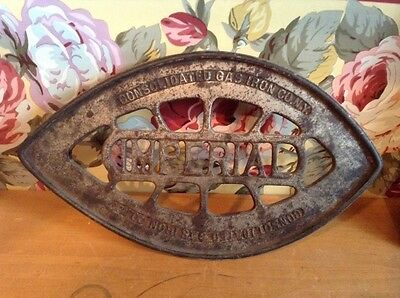 Antique Imperial Consolidated Gas Iron Co cast iron trivet iron stand NY