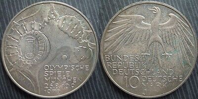 "* GERMANY- FEDERAL REPUBLIC 10 mark 1972 - J - "" Munich Olympics """