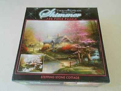 Thomas Kinkade Painter Of Light Shimmer 750 Piece Puzzle Stepping Stone Cottage