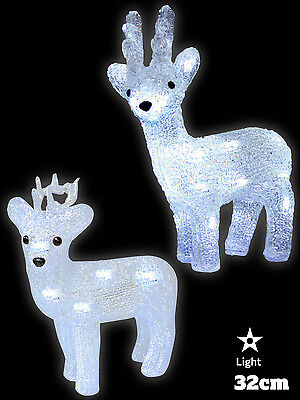 Crystal Effect Reindeer Christmas Decoration LED Light Up Indoor Xmas Ornament