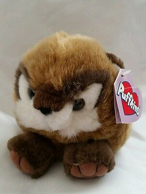 """Swibco Puffkin S  Plush Toy, """"Scooter""""  the Chipmunk, 1998"""