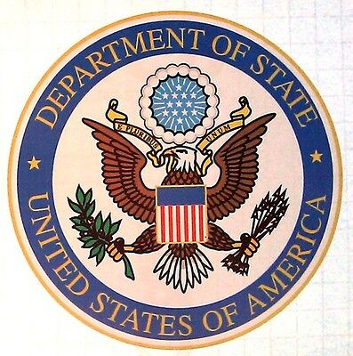 """5"""" US Department of State Vinyl Decal Sticker"""