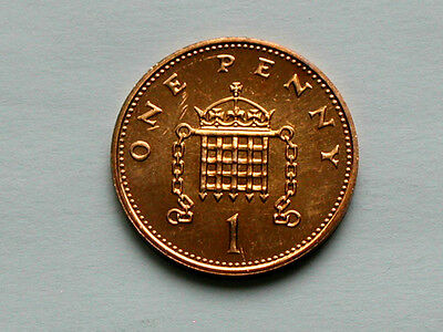 UK (Great Britain) 1985 1 PENNY (1p) Elizabeth II Coin From Mint Set - BU UNC