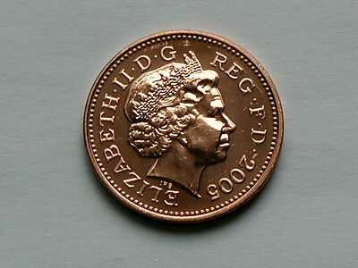 UK (Great Britain) 2005 1 PENNY (1p) Elizabeth II Coin From Mint Set - BU UNC