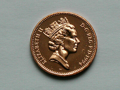UK (Great Britain) 1994 1 PENNY (1p) Elizabeth II Coin From Mint Set - BU UNC