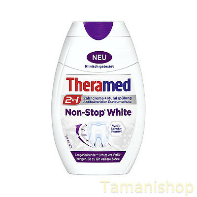 1 x 75ml Theramed 2in1 Zahncreme Non-Stop White