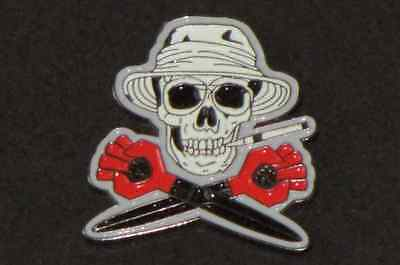 Hunter S. Thompson Fear Fear and Loathing in Las Vegas Skull and Crossbones Pin