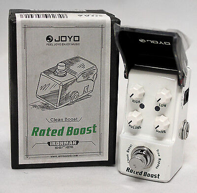 Joyo JF-301 Rated Boost Clean Boost True Bypass Mini Guitar Effects Pedal