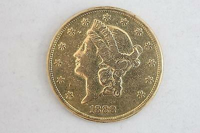 1888 S (San Francisco) $20 Gold Liberty Double Eagle - Great Detail - Look!!!