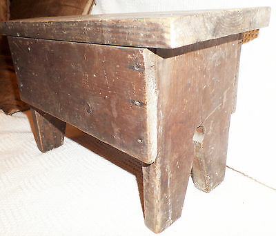 Antique Pine Lovely Character Wooden Farmhouse Stool