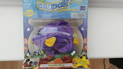 Seapals Finger Puppet - Purple Tang - New And Sealed