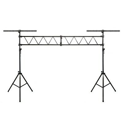 Gorilla 3M Truss Lighting Stand Rig System Mobile DJ Disco Twin T Bar Stand