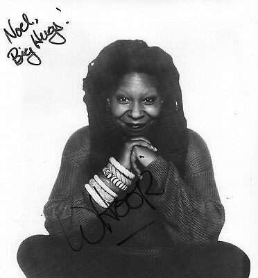 Hand Signed Photograph Whoopi Goldberg Actress In Ink Dedicated Sister Act