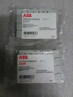 New qty 10 ABB busbar covers -  ZLS100 - 2CCF002762R001 - 4P - 60 day warranty
