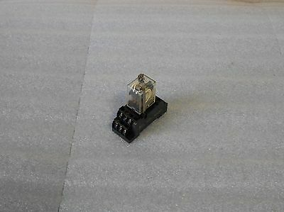 Omron 14 Pin Relay W/ Base, MY4ZN-D2, 24VDC, PYF14A-E, Used, Warranty