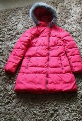 Lovey red Next winter coat age 11-12.
