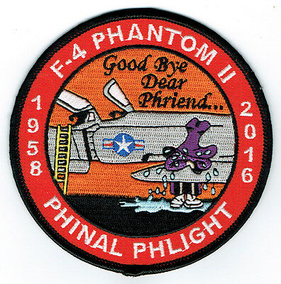 "F-4 Phantom II ""Phinal"" USAF Flight ""The Crying Spook"" Patch 4"" Dia. / 10 Color"