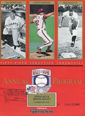 The Sporting News: Fifty-Fifth Hall Of Fame Induction Annual Program
