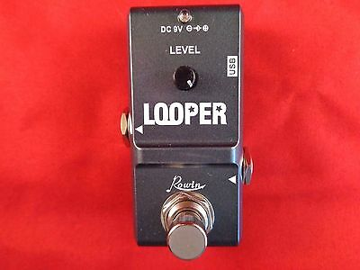 Rowin Nano Looper Micro Guitar Loop Effects Pedal Endless Overdubs True Bypass