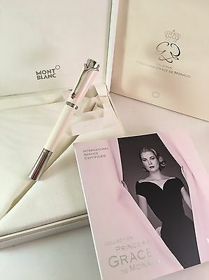 Montblanc Princesse Grace de Monaco Ivory Resin Rollerball Pen - Stunning