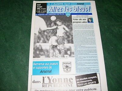 1994/95 Auxerre v Arsenal ECWC