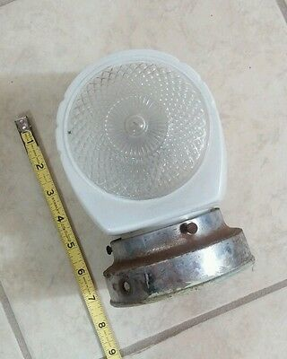 Vintage Outdoor Hallway or Bathroom Kitchen Glass Light Fixture Art Deco Nouveau