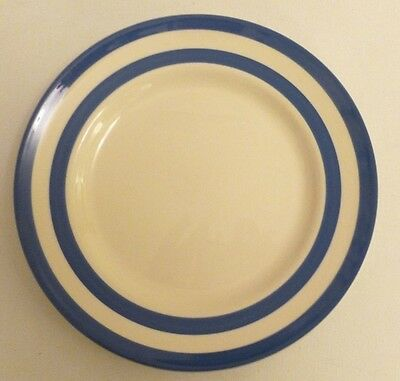 T.G. Green Pottery blue and white cornishware side plate