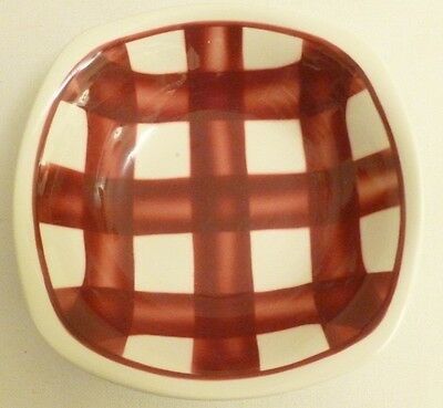 T.G. Green Pottery Patio design cereal bowl red and white gingham