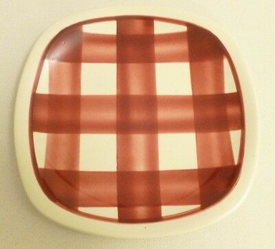 T.G. Green Pottery Patio design side plate red and white gingham