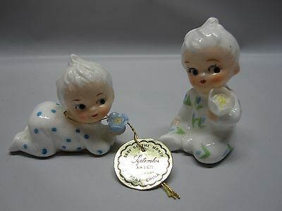 Vintage Napcoware Baby Of The Month Bone China July and September