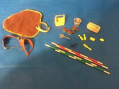 Marchon GC Breyer ?  Lot of Play Tack Saddles Accessories For Horse Toys