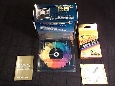 Sears Best Disc Camera Outfit 770 BOX w Unopened Kodak Kodacolor Film Packet