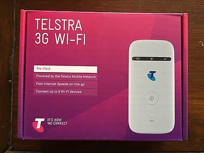 TELSTRA 3G Wifi Modem MF65 1 Gig Data Wireless Portable Wifi WHITE