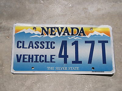 Nevada Classic Vehicle License Plate  # 417T