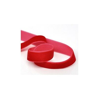 Bead and Button Company 1 Roll of 9 meters Red Velvet Ribbon 15mm