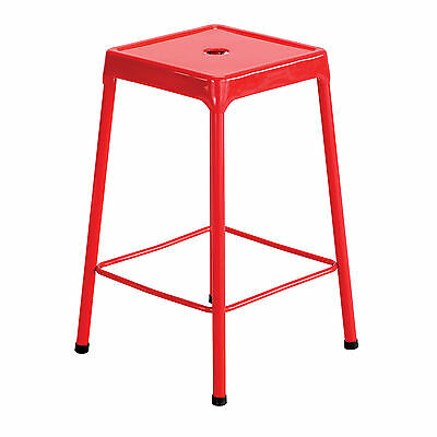 Steel Counter Stool - Red  1 ea