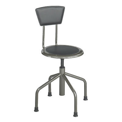 Diesel Low Base Stool with Back - Pewter  1 ea