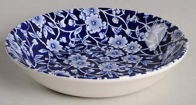 Staffordshire CALICO BLUE (BURLEIGH STAMP) Butter Pat 5799562