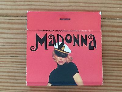 Madonna London The Girlie Show Matchbook ~ Unused ~ Very Good Condition