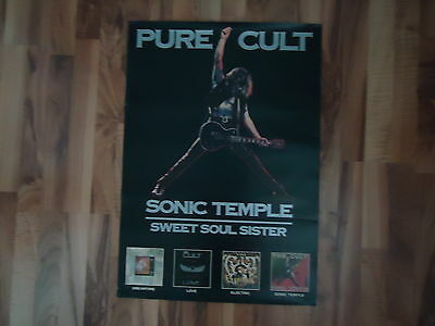 The Cult 1989 Sonic Temple Poster     Canada Only!!! VERY RARE!!!!