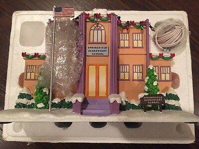 """The Simpsons Christmas Village Collect. """"Springfield Elementary School"""""""