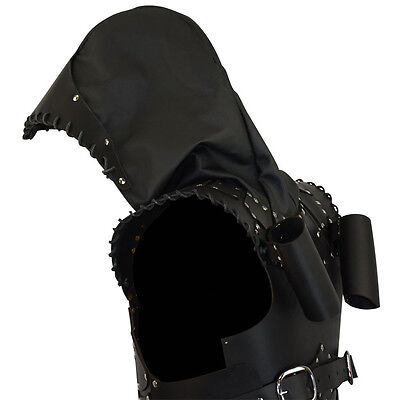 Rogue Leather Armor W/ Hood, Black or Brown. LARP, Duel Sword, Medieval,Cosplay