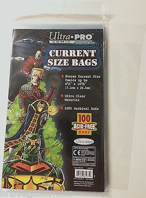 Ultra Pro Comic Series Current Size Bags x 100