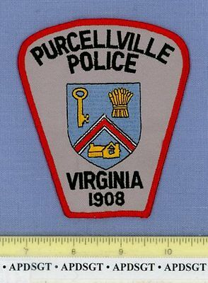 PURCELLVILLE VIRGINIA VA Sheriff Police Patch GOLD KEY OLD HOUSE