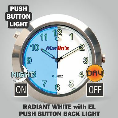 Marlin's Back-lit EL Radiant White Clock Face Only