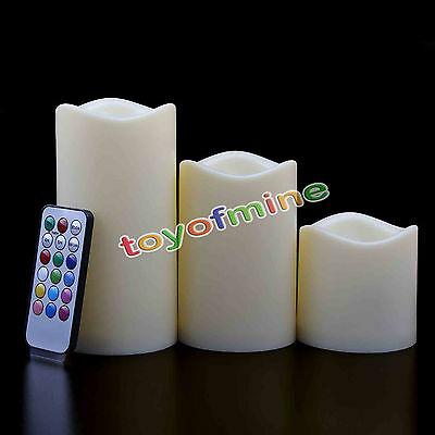 Remote Control Changing 12 Color LED Electronic Flameless Smokeless Candle Light