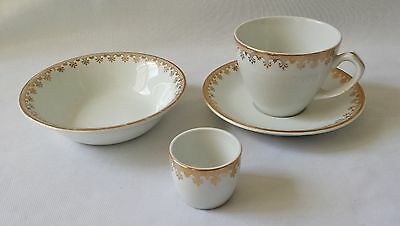 Beautiful Vintage Alfred Meakin Breakfast Set - Cup & Saucer - Egg Cup & Bowl