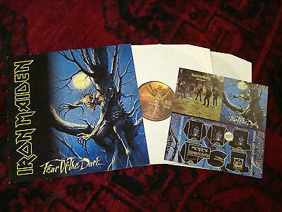 "IRON MAIDEN  ""Fear of the Dark"" Double LP + Merch insert 1992 records mint- rare"