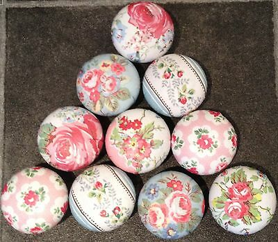10 Door Handles Knobs Finished with Cath Kidston Paper Shabby Chic Country