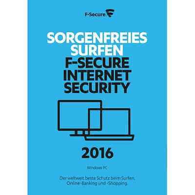 F-Secure Internet Security 2017, 3PCs, LATEST DOWNLOAD VERSION (NO DVD)